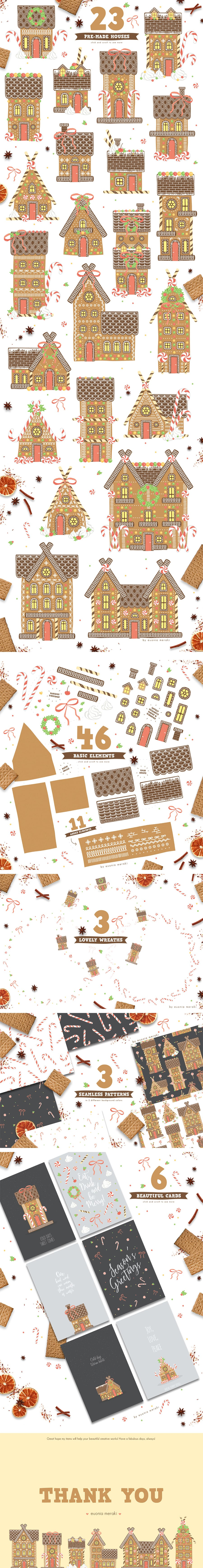 Gingerbread House Creator - just $3 - Gingerbread preview 04