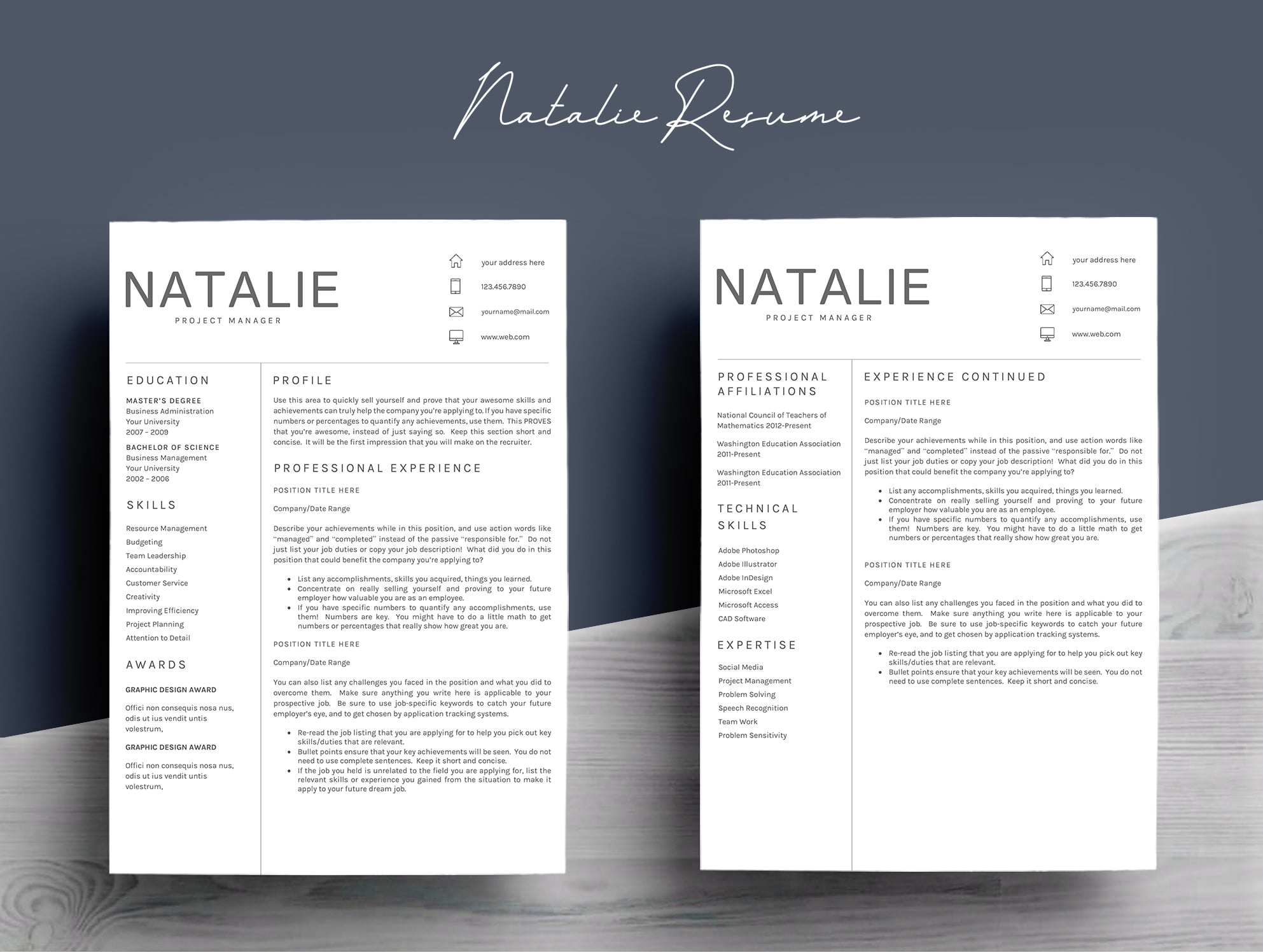 Bundle - Resume Template 5 Pages