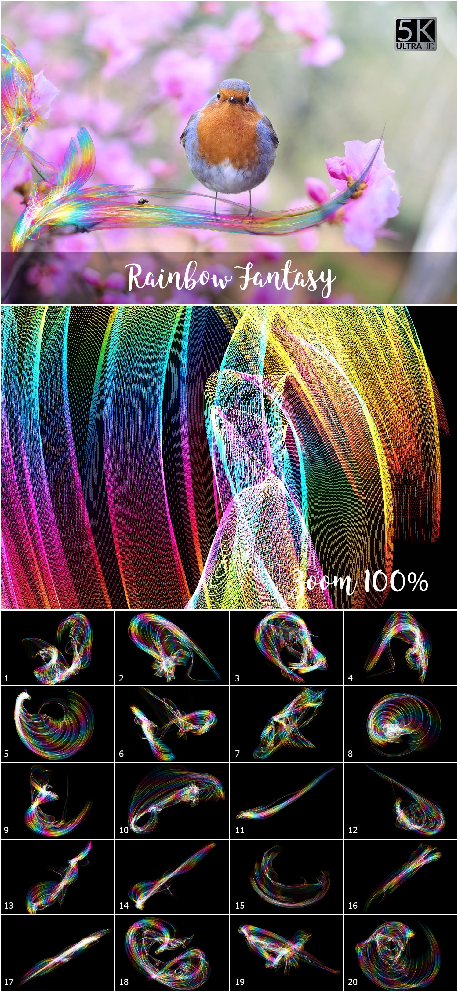 1053 Spectacular Overlays png - Only $18! - Rainbow Fantasy