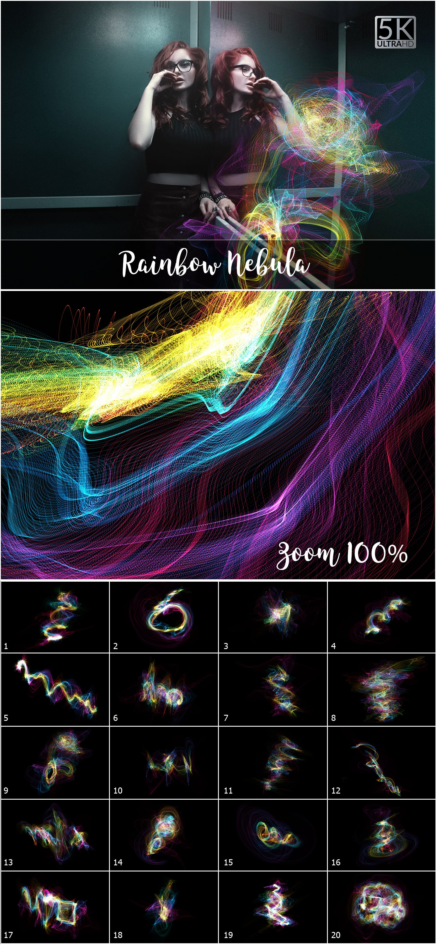 1053 Spectacular Overlays png - Only $18! - Rainbow Nebula
