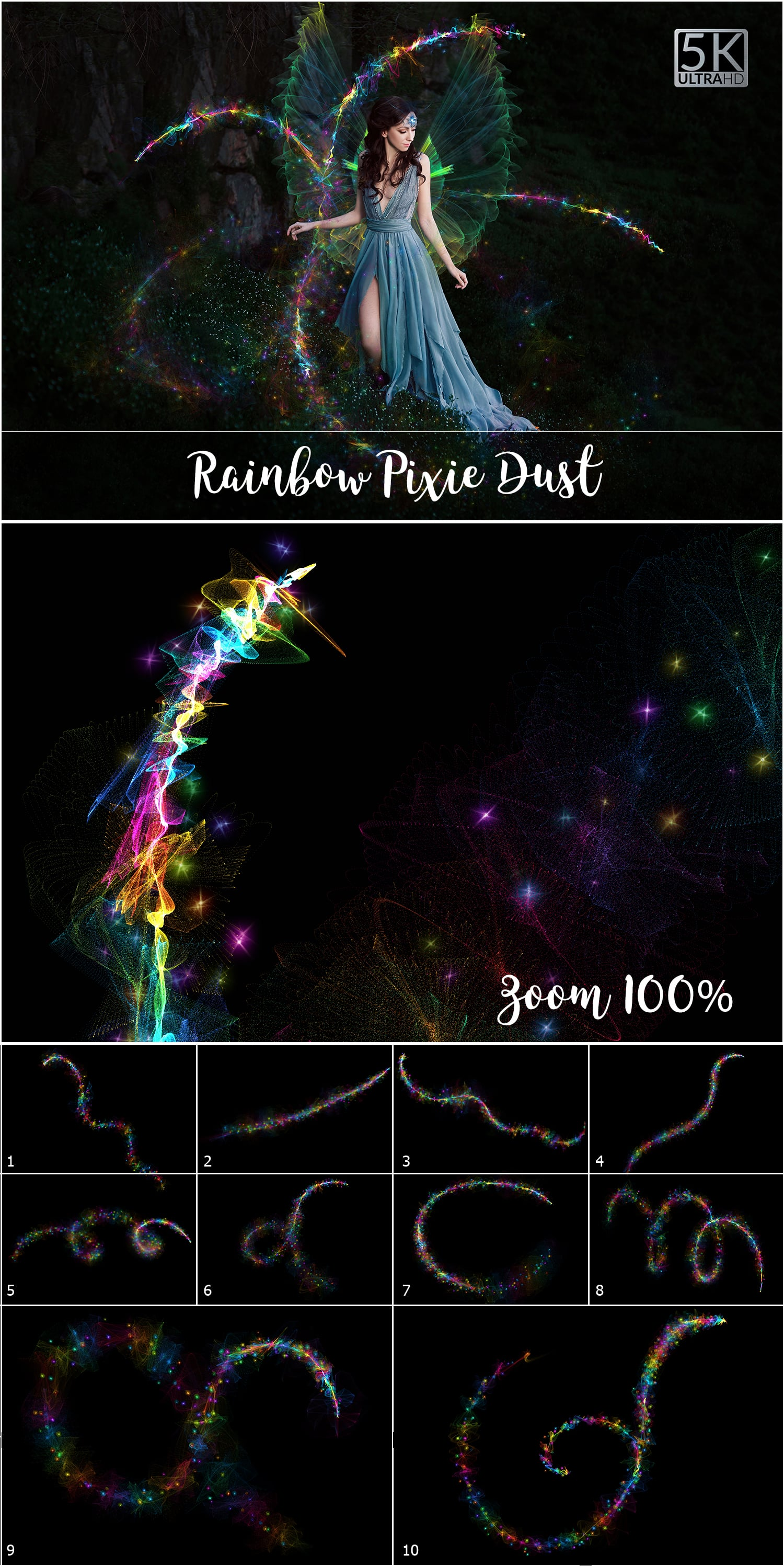 1053 Spectacular Overlays png - Only $18! - Rainbow Pixie Dust