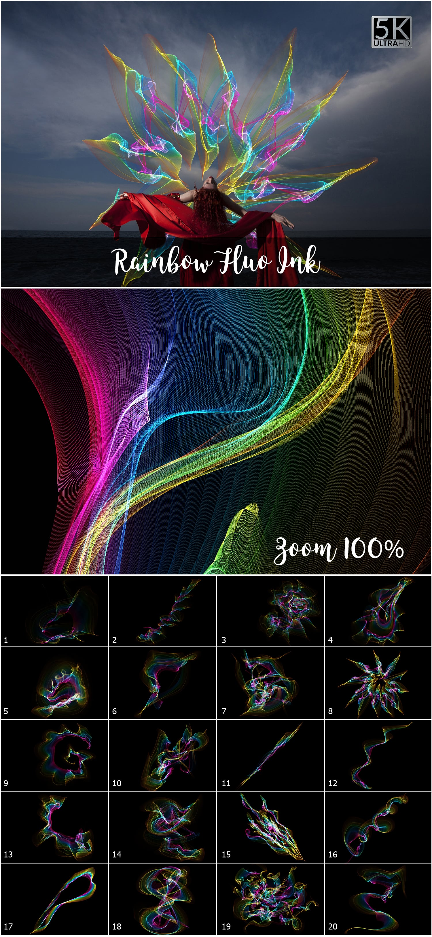 1053 Spectacular Overlays png - Only $18! - Rainbow Ribbon