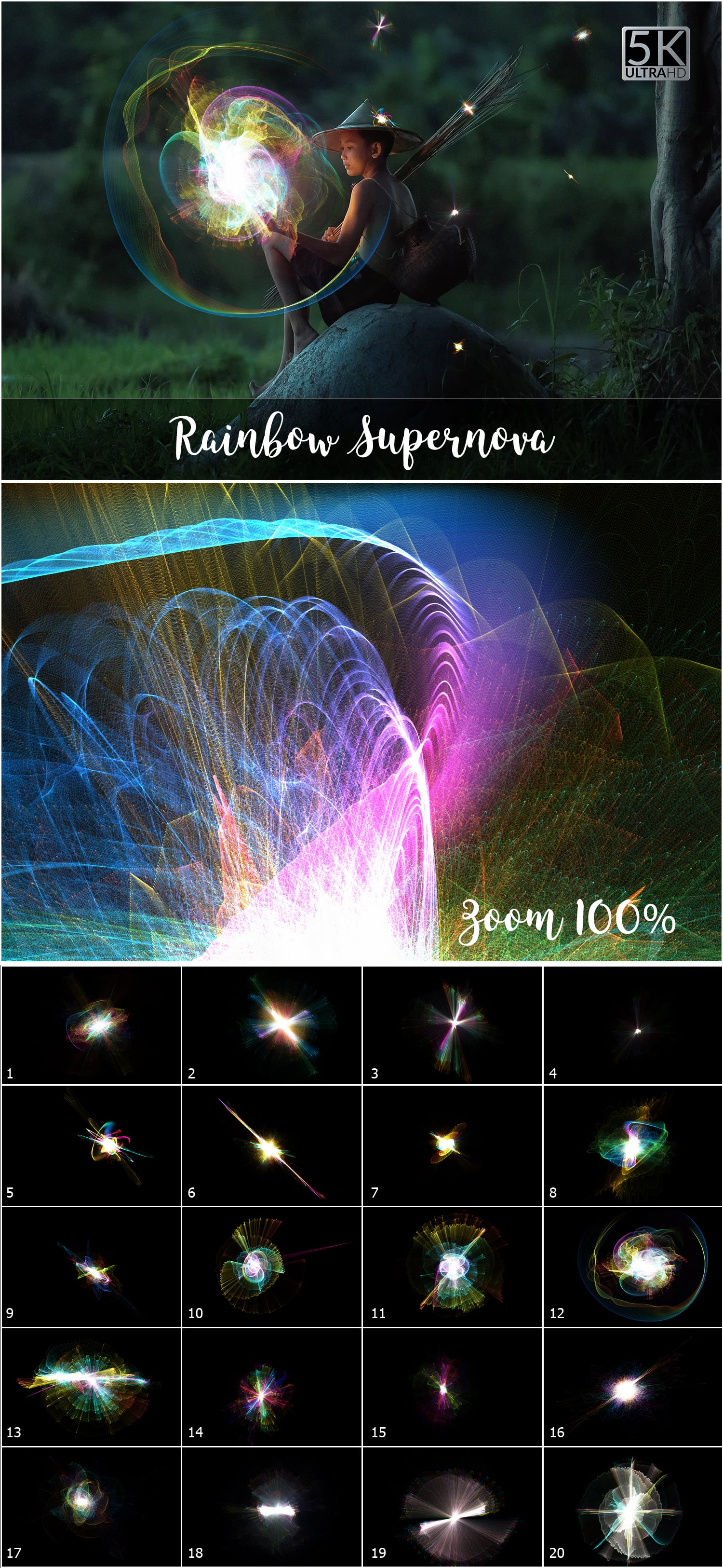 1053 Spectacular Overlays png - Only $18! - Rainbow Supernova