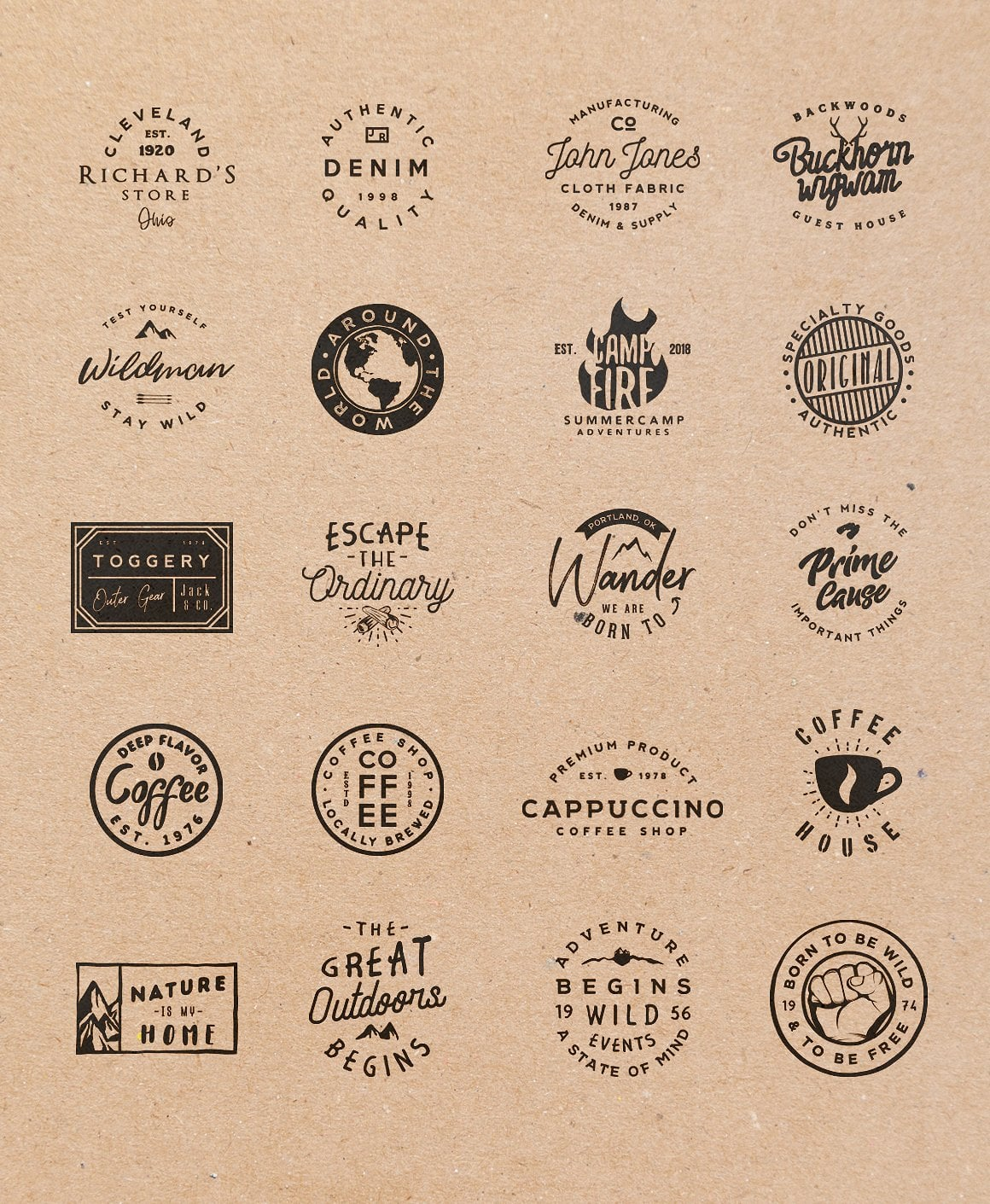 100 Vintage Stock Logo Templates - Only $24! - all2