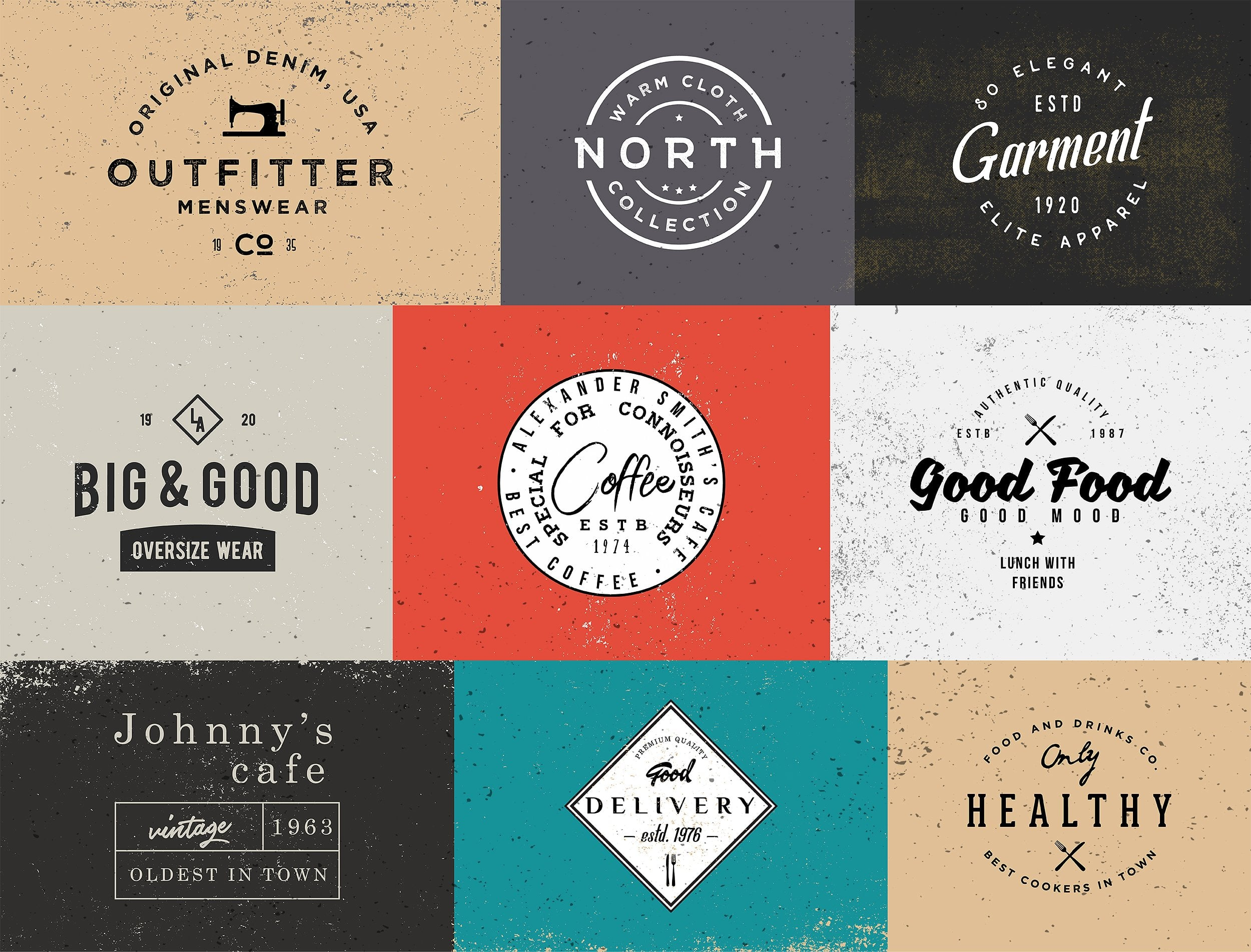 100 Vintage Stock Logo Templates - Only $24! - forcm