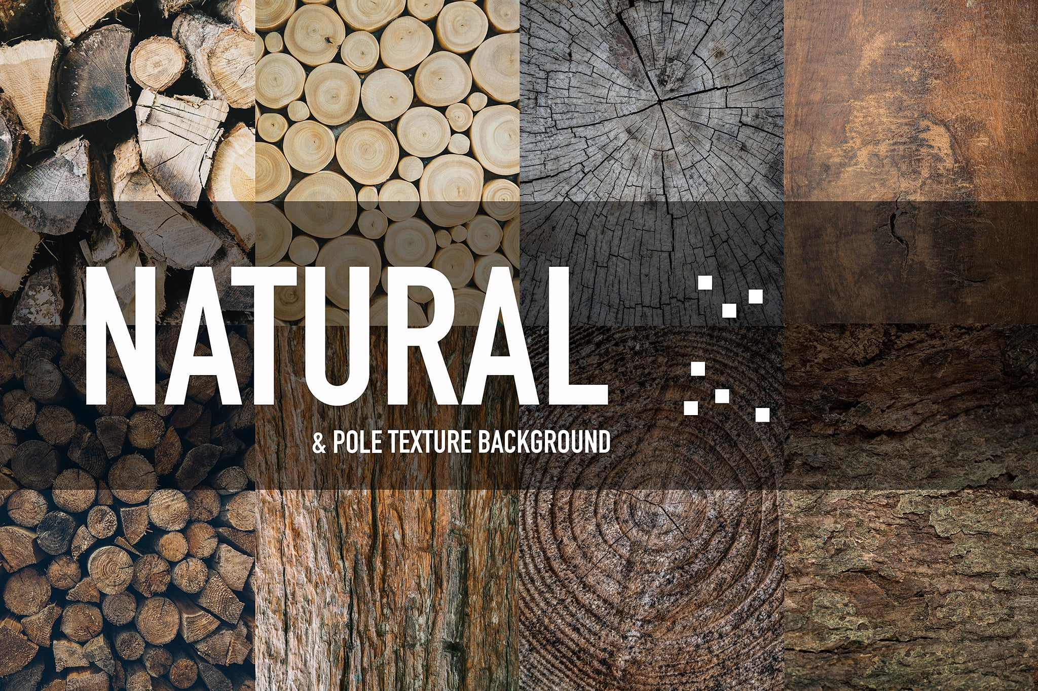 A stack of wood of different colors and textures all piled up, wood texture background.