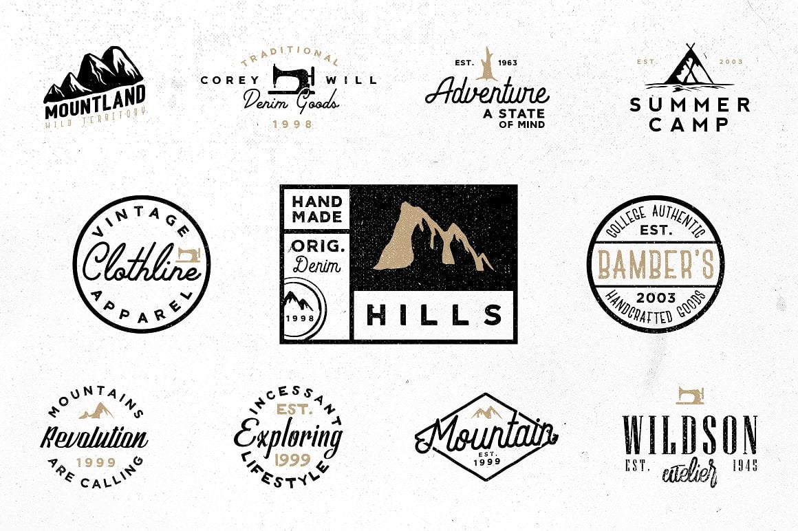 100 Vintage Stock Logo Templates - Only $24! - pre1