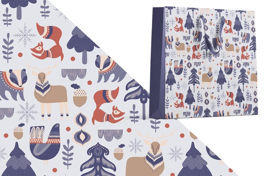 Scandinavian Winter Bundle: 80 Vector and Raster Elements - $15 - prev10