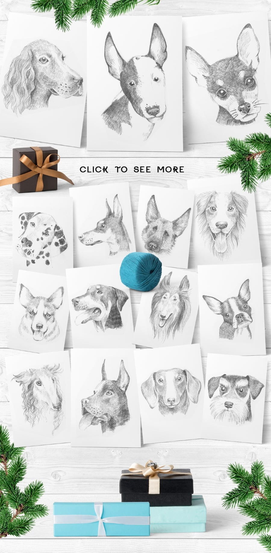 New Year Bundle: 15 Different Dog Breeds and Elements - prev2 2