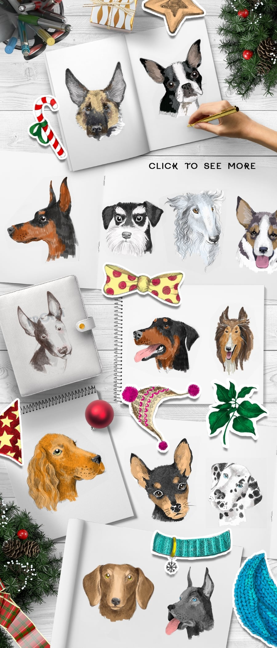 New Year Bundle: 15 Different Dog Breeds and Elements - prev4 2