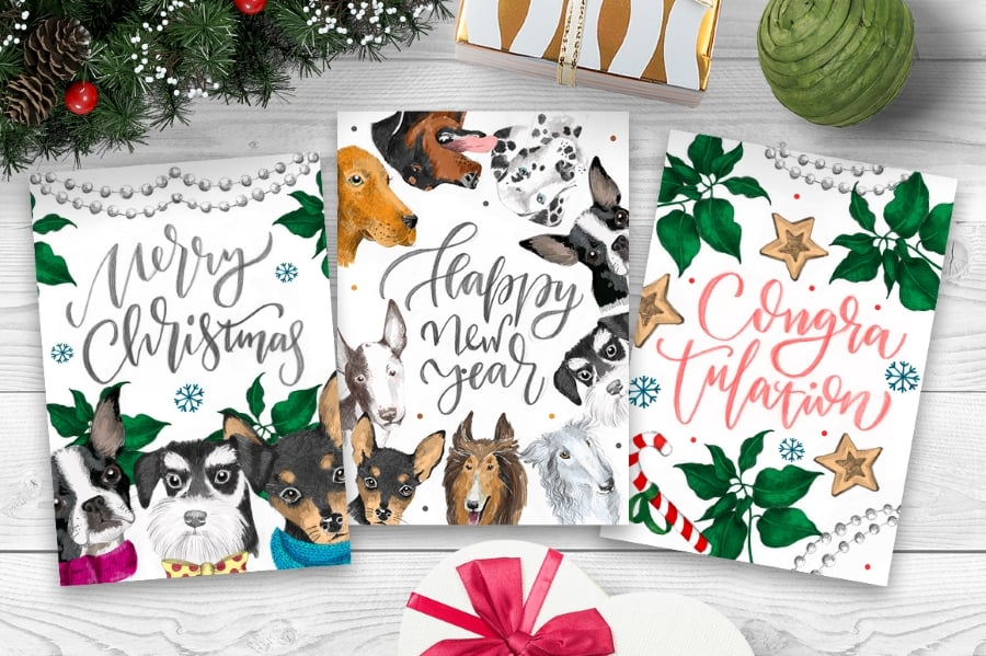 New Year Bundle: 15 Different Dog Breeds and Elements - prev7 1