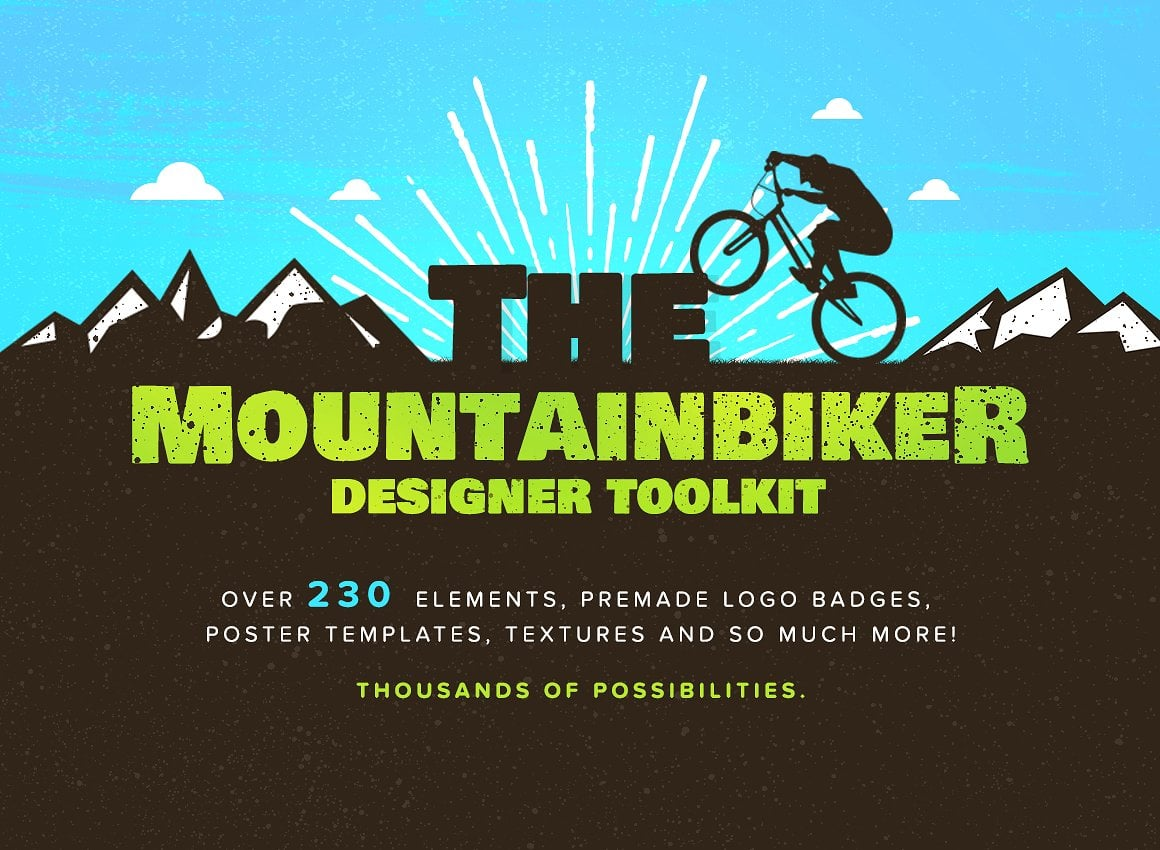 The Mountainbiker - Designer Logo Kit - 01 main preview