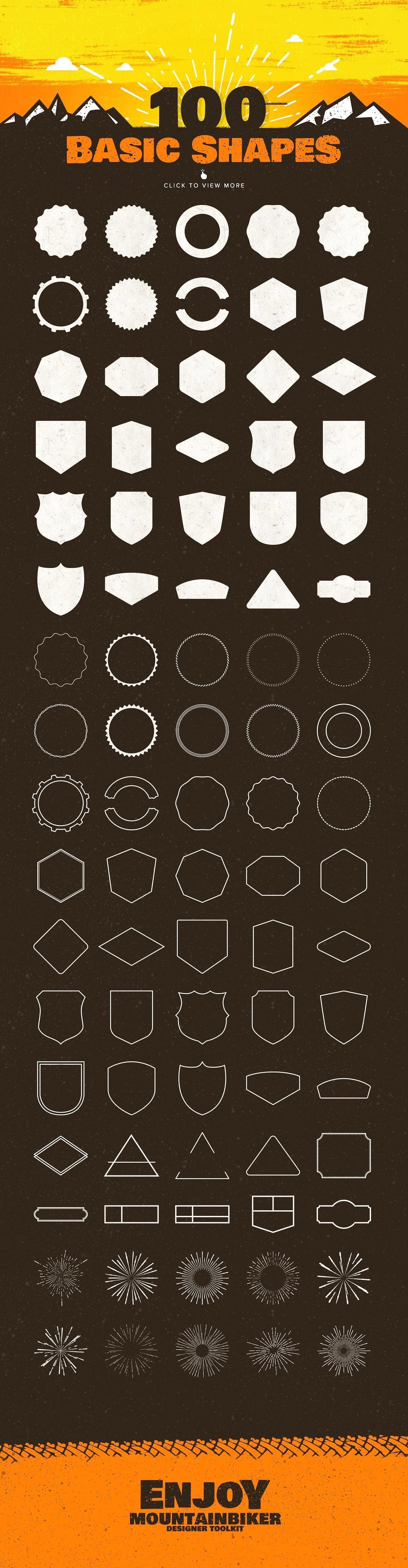 The Mountainbiker - Designer Logo Kit - 02 badges