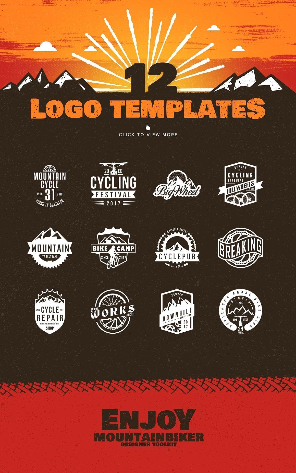 The Mountainbiker - Designer Logo Kit