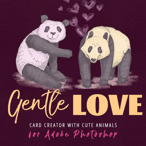 Gentle Love: Card Creator - 1 square 1