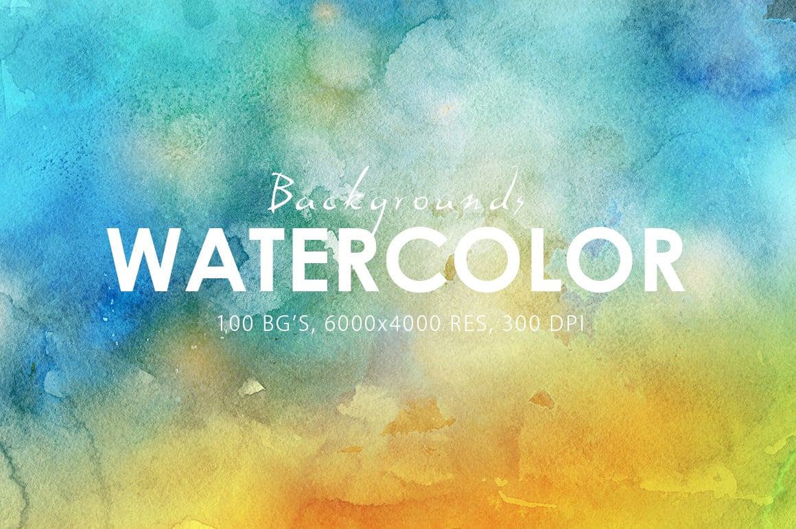 540+ Watercolor Backgrounds Bundle - 544 Items. Only $18! - 100 watercolor backgrounds textures prev6 o