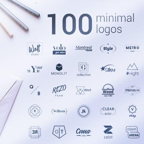 100 Minimal Logos Set - 100logos 490 1