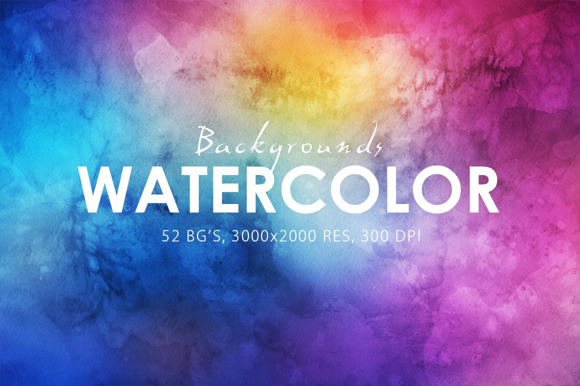 540+ Watercolor Backgrounds Bundle - 544 Items. Only $18! - 30 watercolor backgrounds prev o