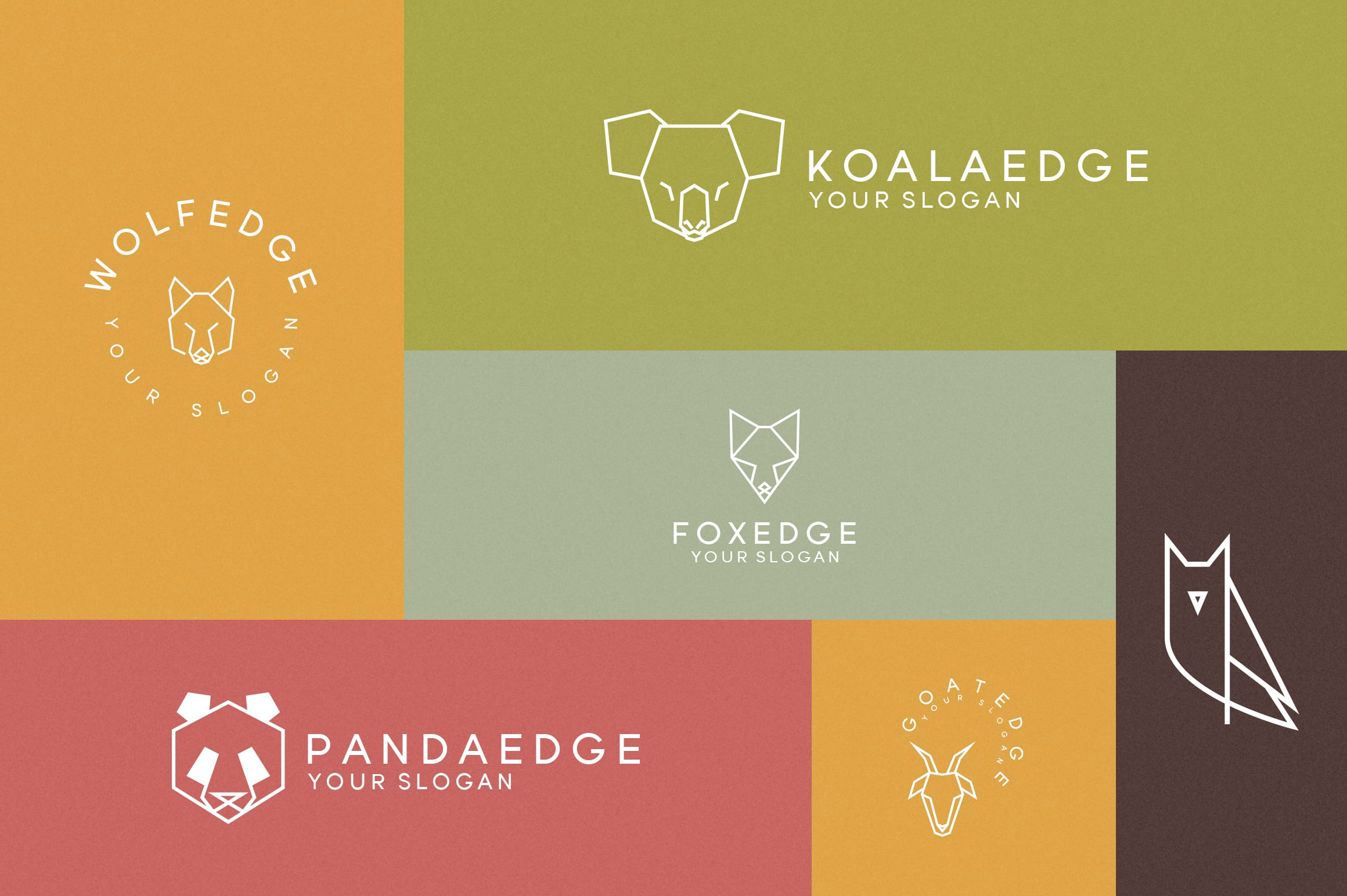 116 Geometric Animal Logo Templates - 4 1