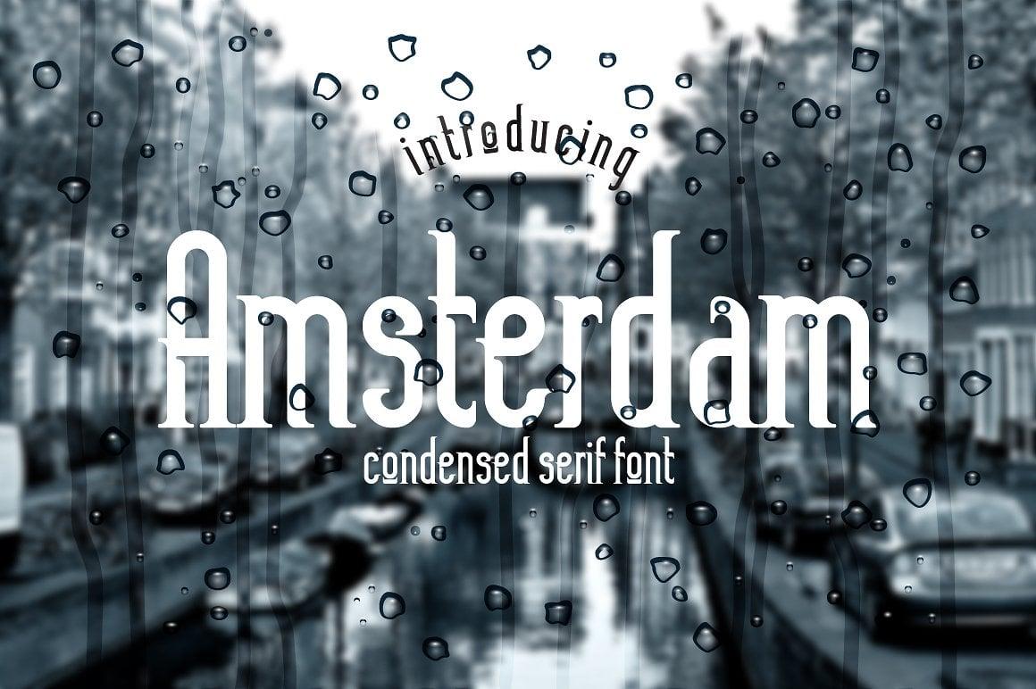 Font Bundle: 40 Typefaces from 22 Font Families - amsterdam 01