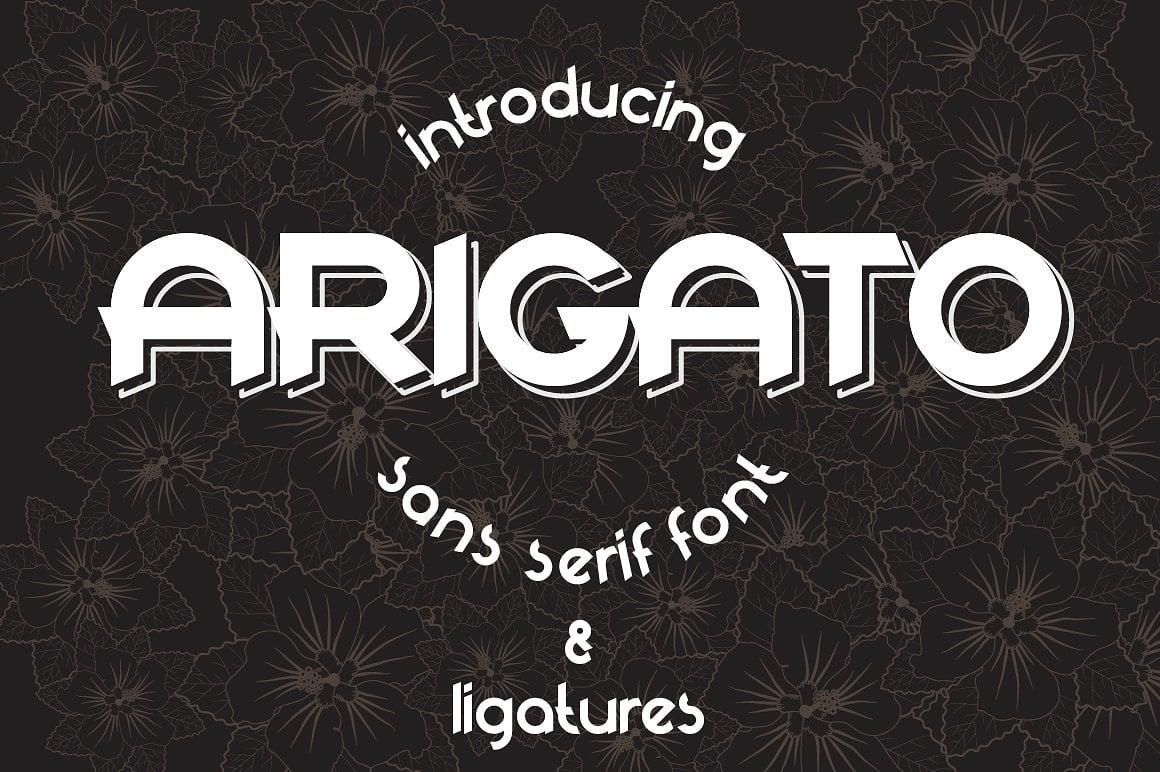 Font Bundle: 40 Typefaces from 22 Font Families - arigato 01