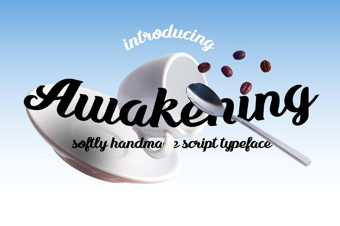 Font Bundle: 40 Typefaces from 22 Font Families - awakening 01