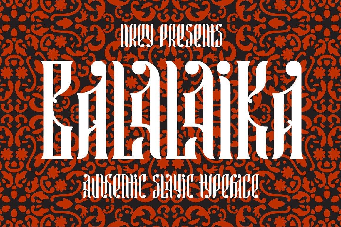 Font Bundle: 40 Typefaces from 22 Font Families - balalaika 01