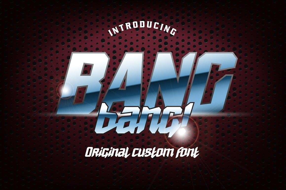 Font Bundle: 40 Typefaces from 22 Font Families - bang bang 01