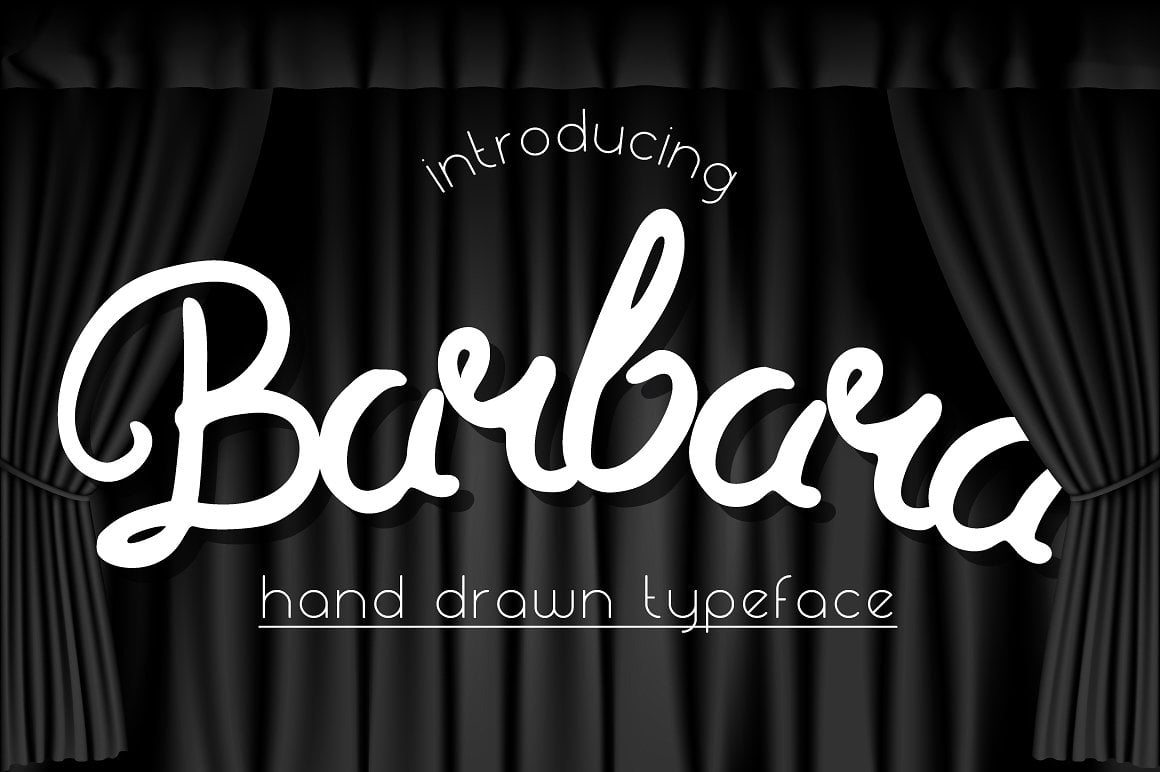 Font Bundle: 40 Typefaces from 22 Font Families - barbara 01