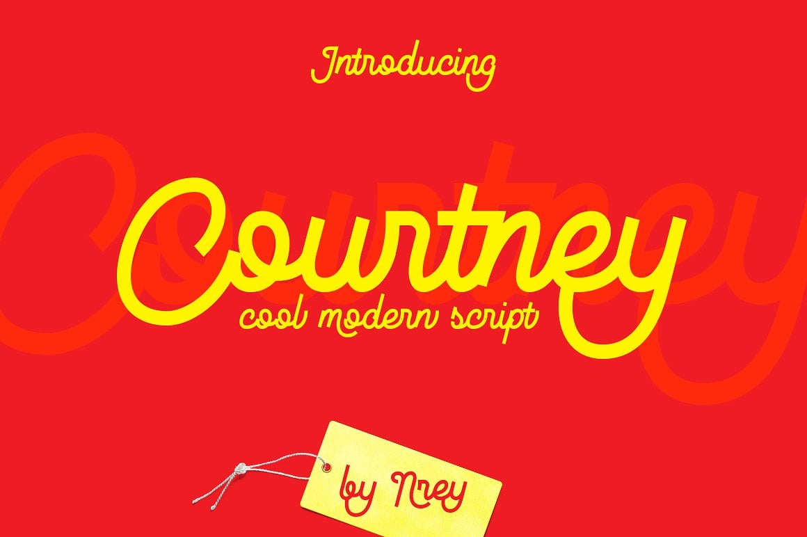 Font Bundle: 40 Typefaces from 22 Font Families - courtney 01