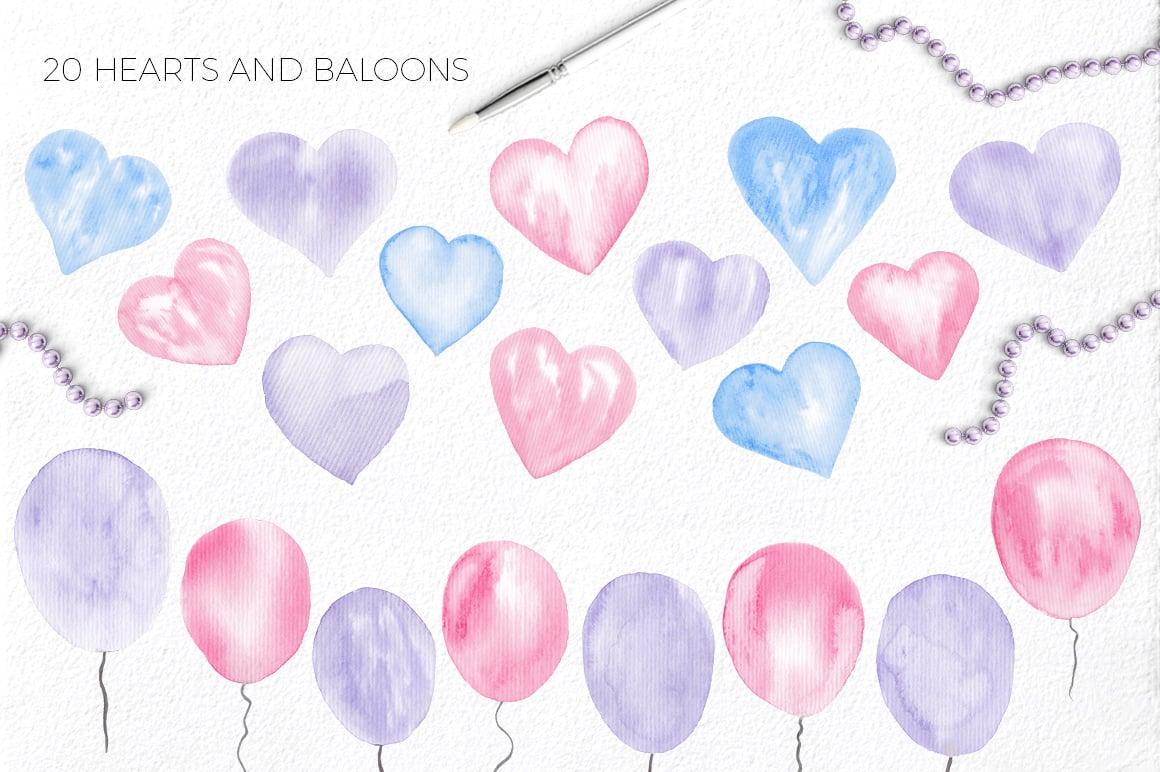 Love Story: Valentine Watercolor Kit - $9 - lovestory 5