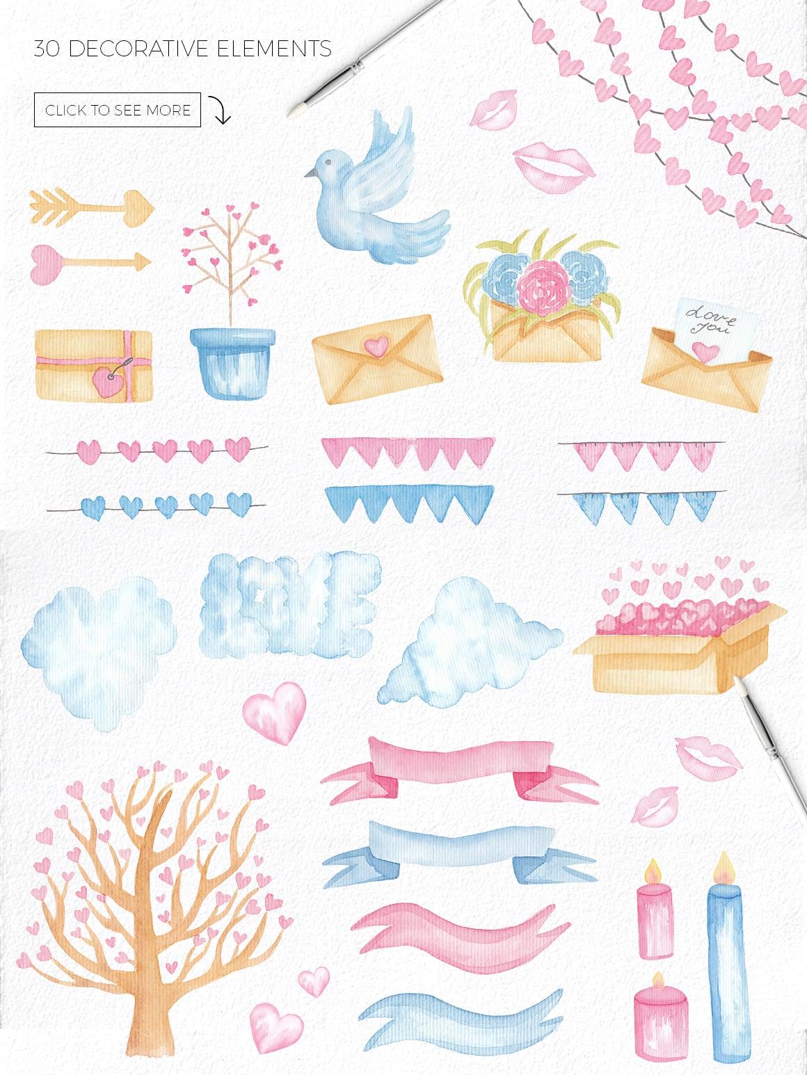 Love Story: Valentine Watercolor Kit