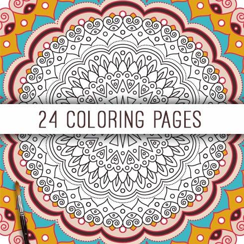 21 Mandala Designs Collection: Mandala SVG, Ai, Eps, JPG, PNG - main cover.