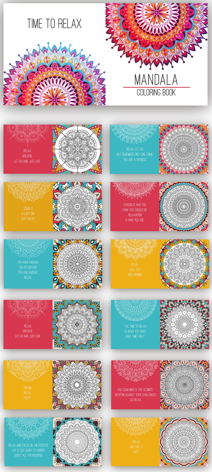 Mandala Coloring Book. Best 24 Coloring Pages in 2020. Only $12!