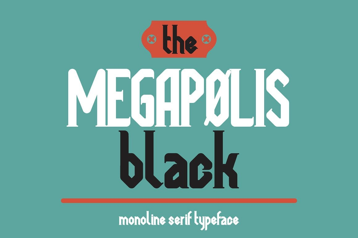 Font Bundle: 40 Typefaces from 22 Font Families - megapolis black 01