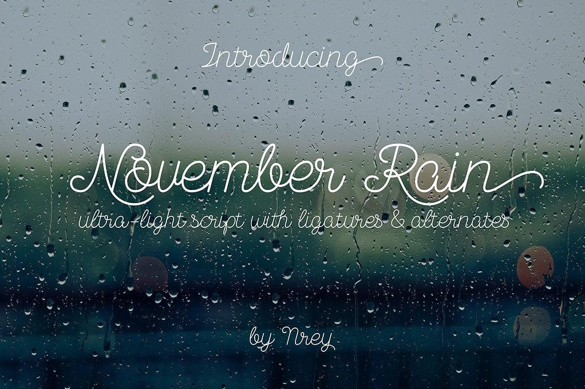 Font Bundle: 40 Typefaces from 22 Font Families - november rain 01