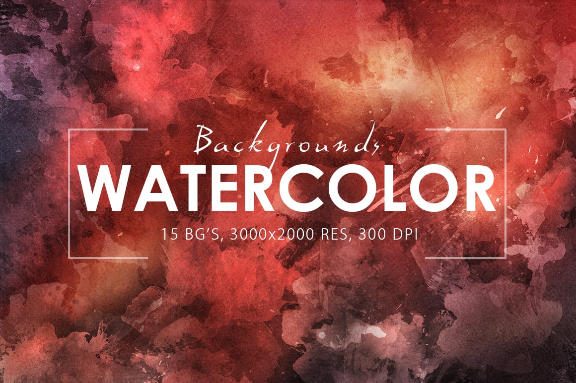 540+ Watercolor Backgrounds Bundle - 544 Items. Only $18! - prev