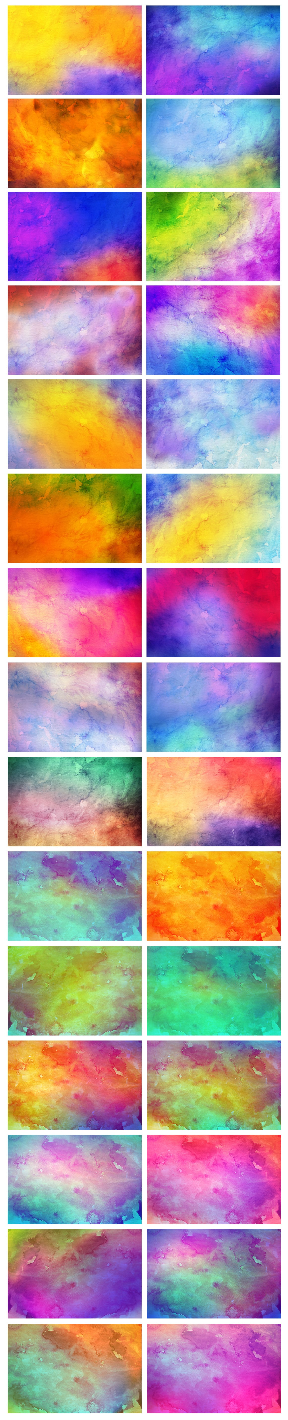 540+ Watercolor Backgrounds Bundle - 544 Items. Only $18! - prev1 copy o