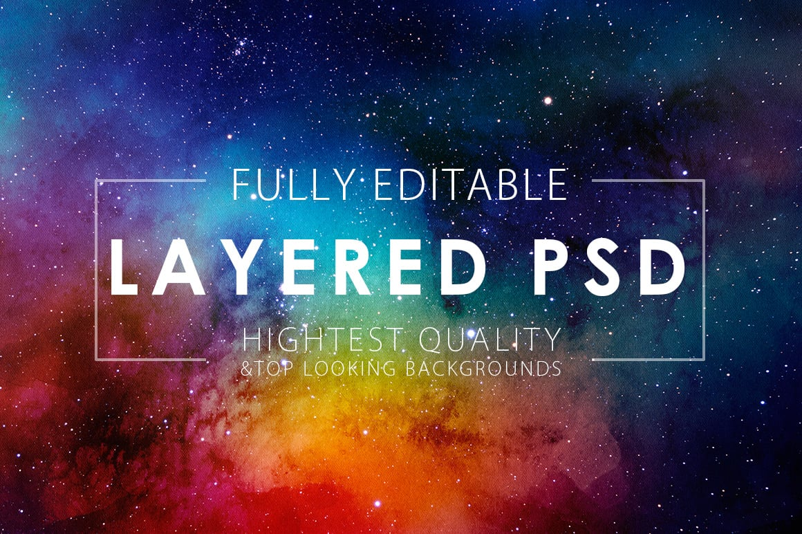 540+ Watercolor Backgrounds Bundle - 544 Items. Only $18! - space watercolor backgrounds prev2 o