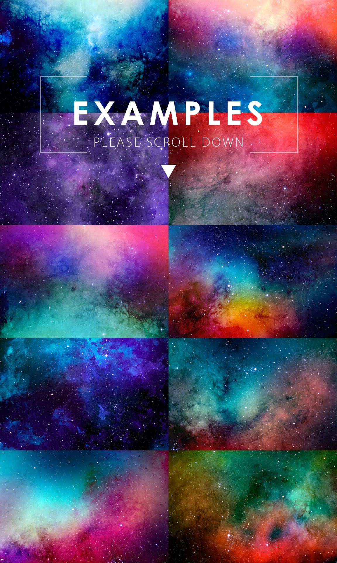 540+ Watercolor Backgrounds Bundle - 544 Items. Only $18! - space watercolor backgrounds prev3 o