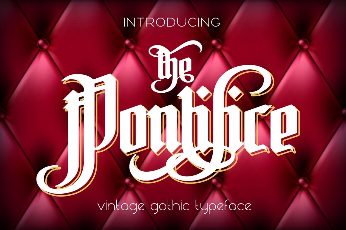 Font Bundle: 40 Typefaces from 22 Font Families - the pontifice 01