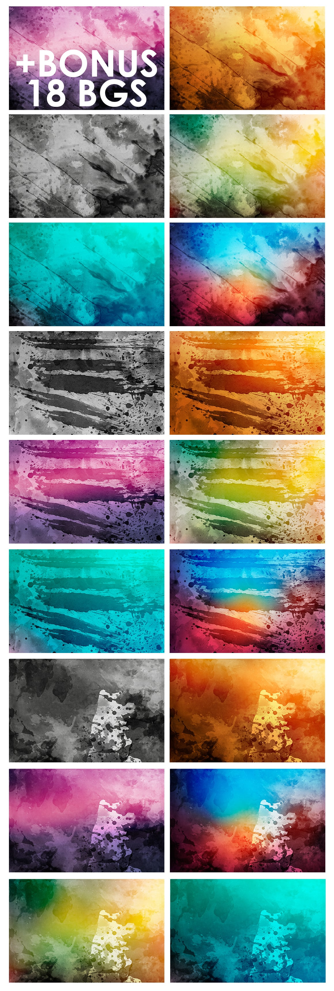 540+ Watercolor Backgrounds Bundle - 544 Items. Only $18! - watercolor backgrounds prev 3