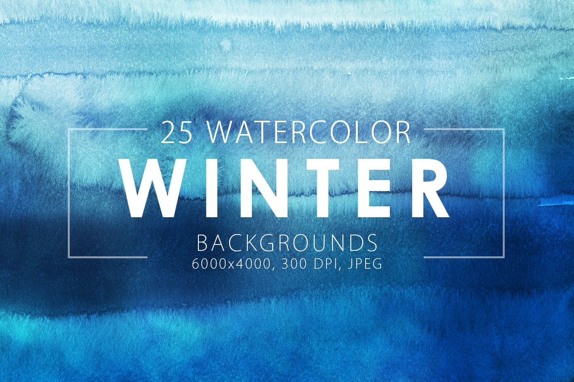 540+ Watercolor Backgrounds Bundle - 544 Items. Only $18! - winter watercolor backgrounds prev1 o