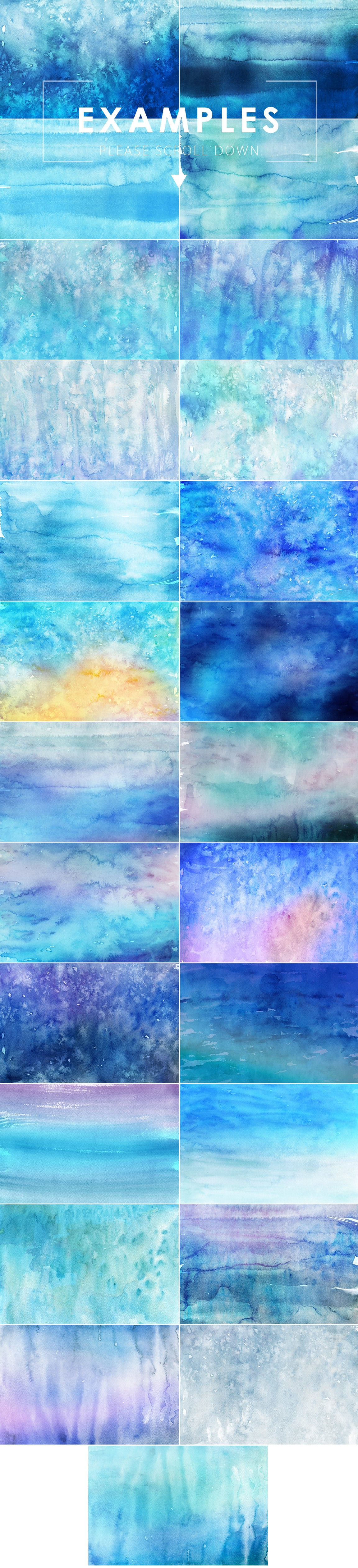 540+ Watercolor Backgrounds Bundle - 544 Items. Only $18! - winter watercolor backgrounds prev2 o