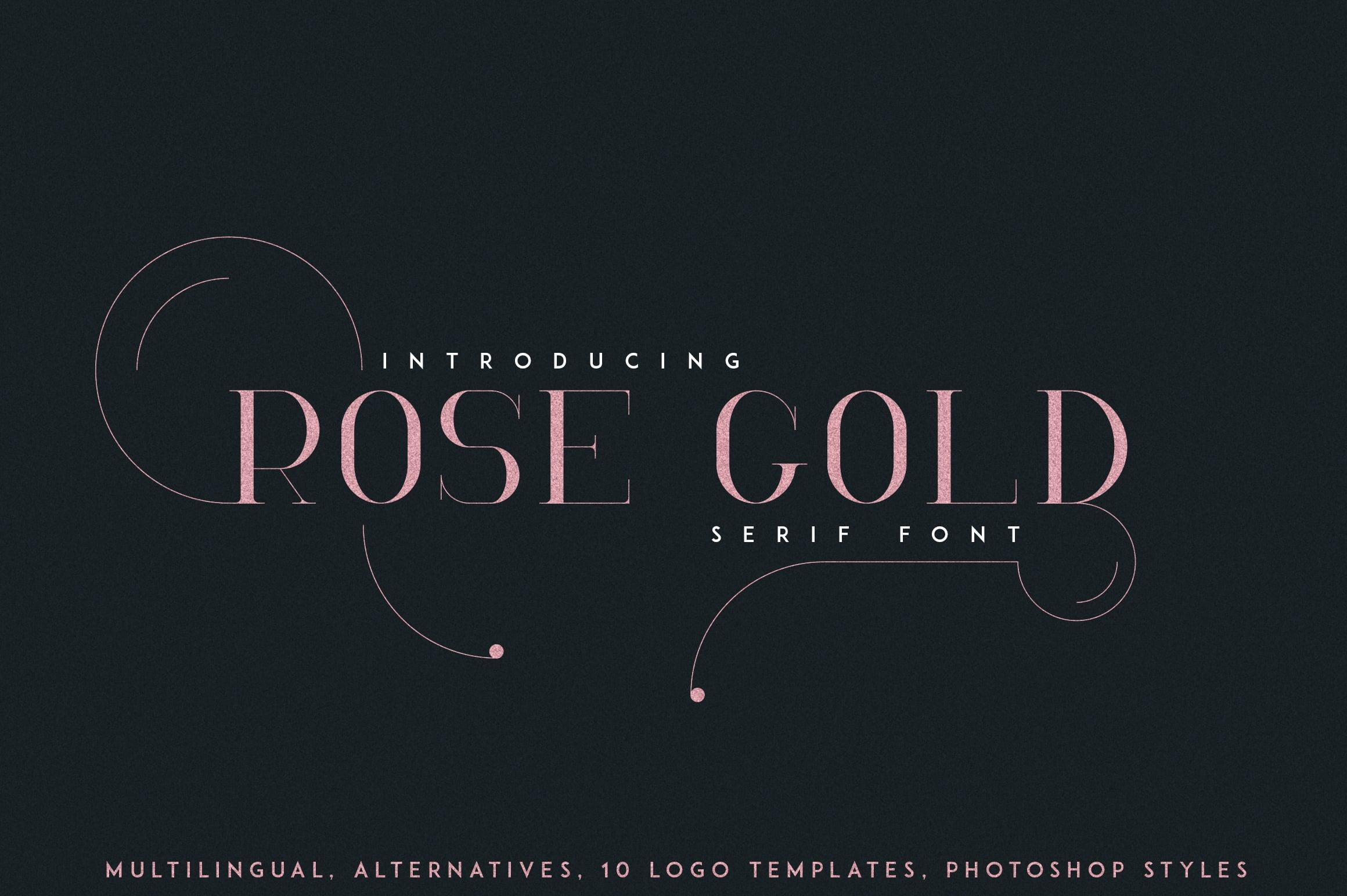 RoseGold Serif font + 10 Logos - 1