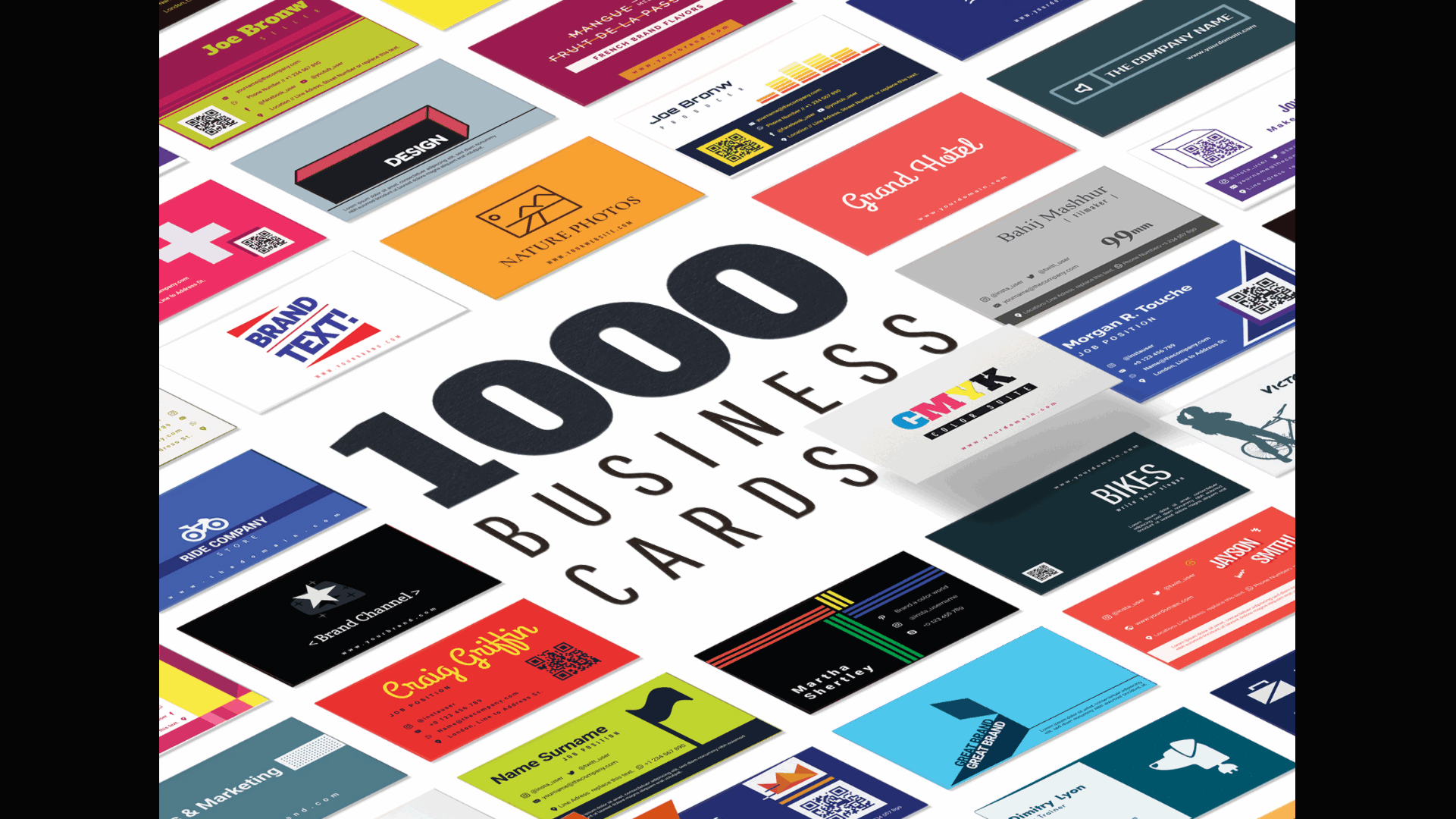 1000 Business Card Templates Pack.