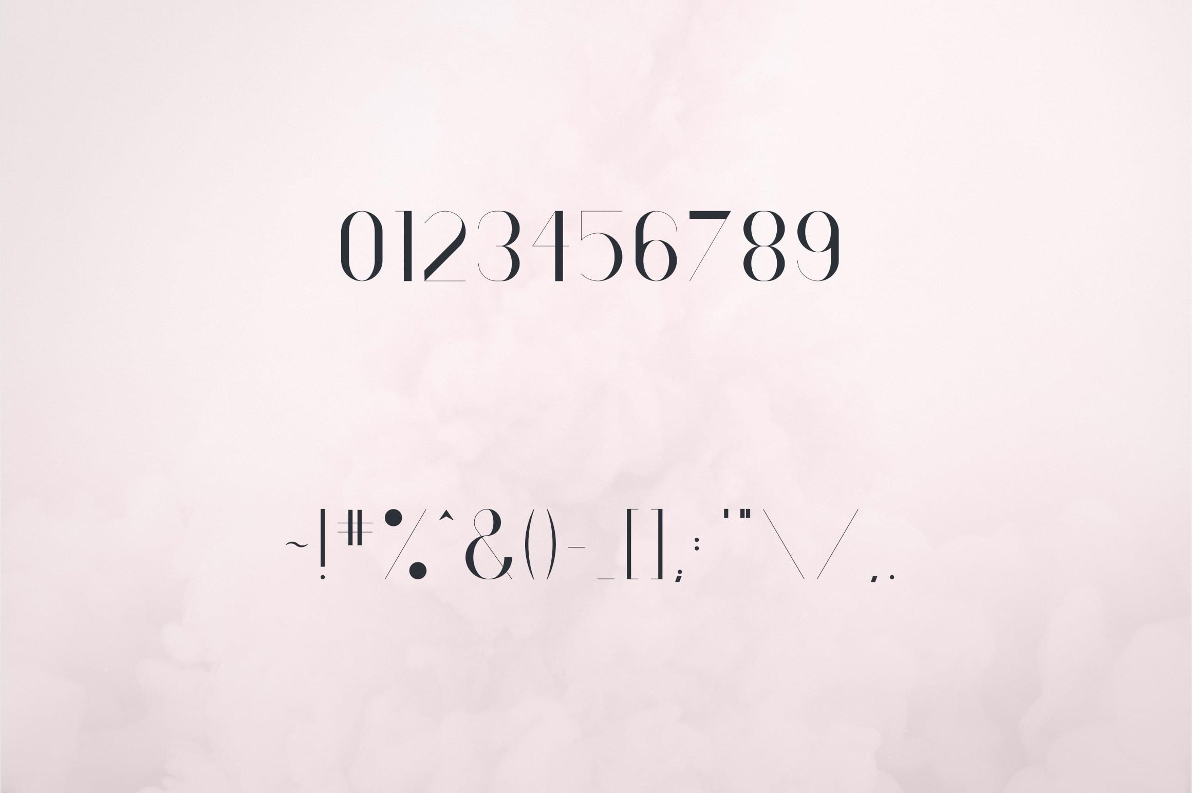 RoseGold Serif font + 10 Logos - 7