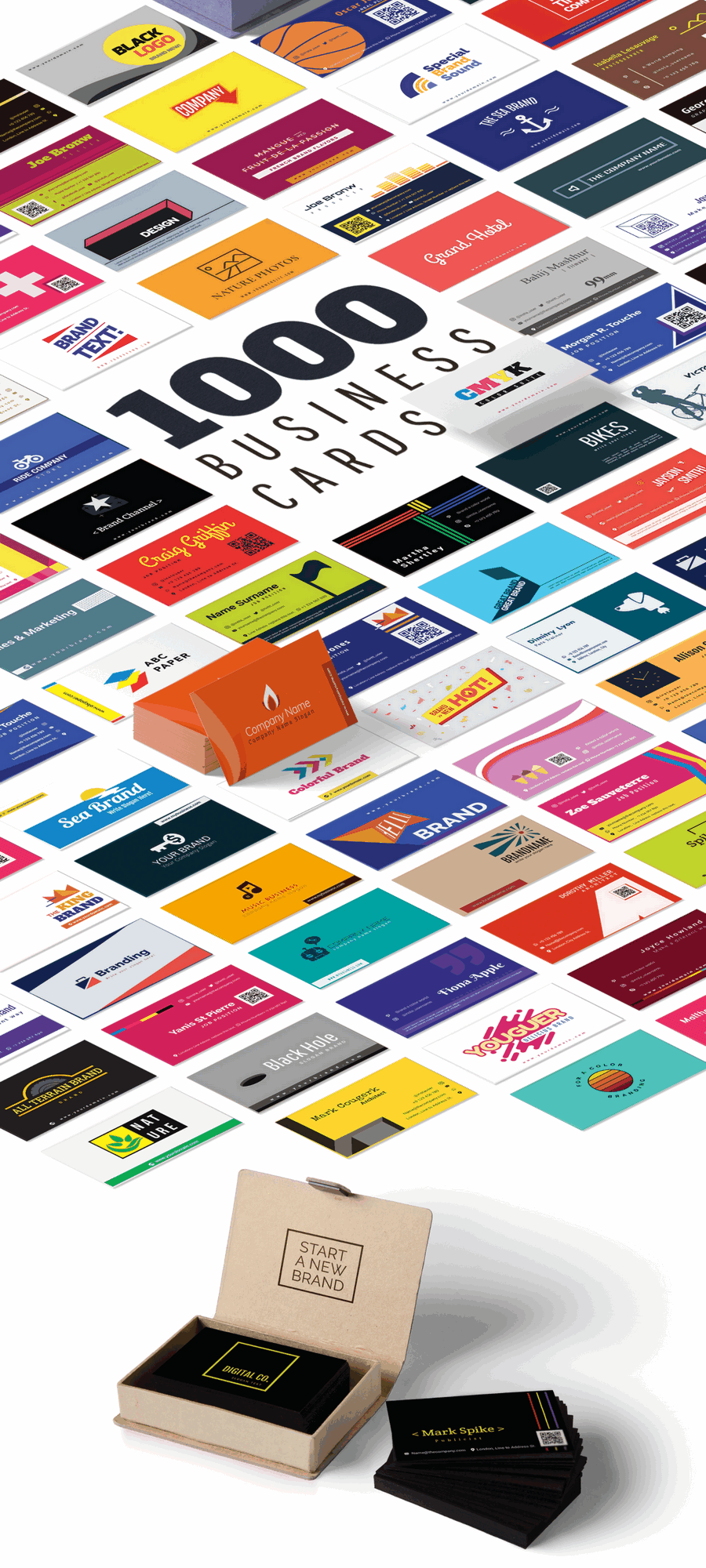 1000 Business Card Templates Pack - $14 - 900