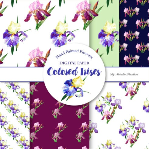 Author - Digital Paper with Colored Irises cover 4 490x490