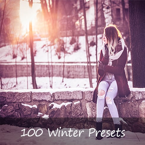 100 Winter Lightroom Presets - Main Image490x490px 1